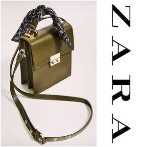 NWOT Zara City Bag with Scarf